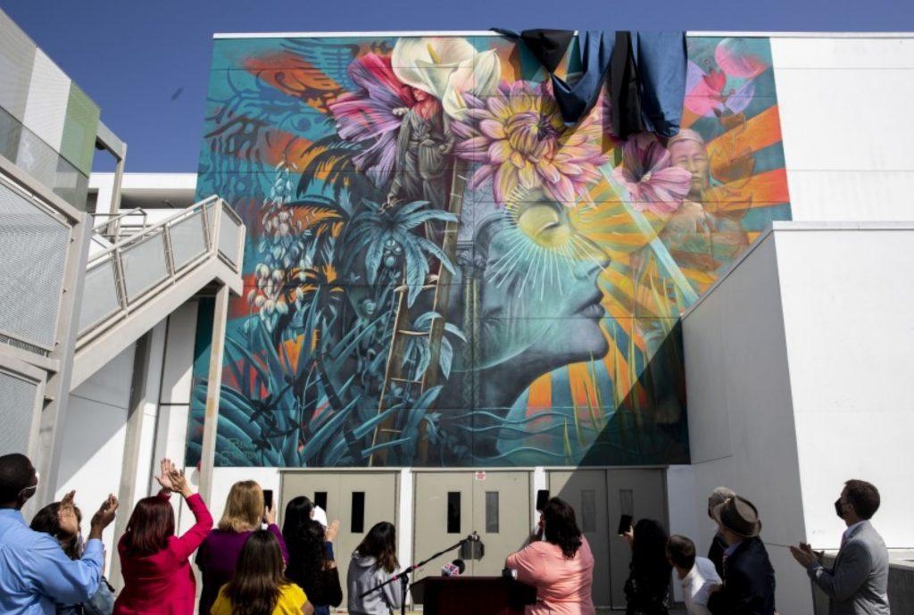ava gardner koreatown mural modification
